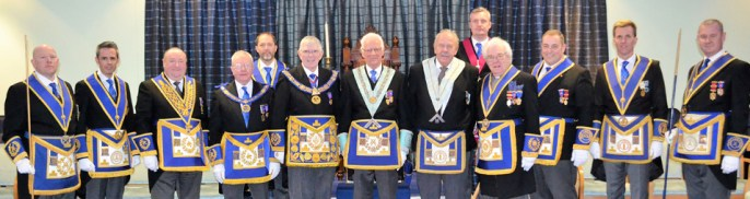 The grand array of officers that attended Aegis Lodge installation.