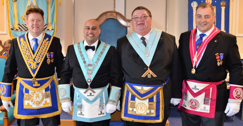 Pictured from left to right, are: Peter Schofield, Matthew Kneale, Ian Lonsdale and Scott Devine.