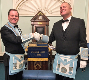 Pictured from left to right, are: Derek Evans and Edward Tucker