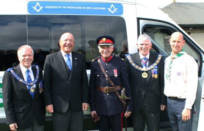Pictured from Left to right, are: Derek Parkinson, Steve Kayne, John Barnett MBE, Tony Harrison and George Binns.