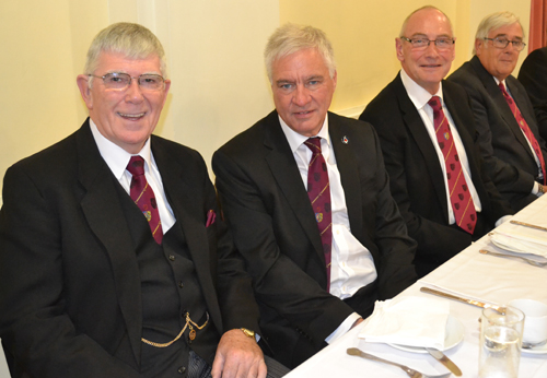 Pictured from left to right at the festive board, are: Tony Harrison, Simon Hanson, Richard Holdstock and Graham Taylor.