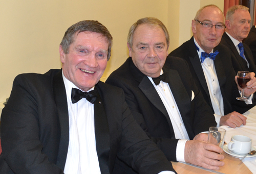 Pictured left to right at the festive board, are: Jim Hamilton, John Clare, Richard Holdstock and Alan Hilton.