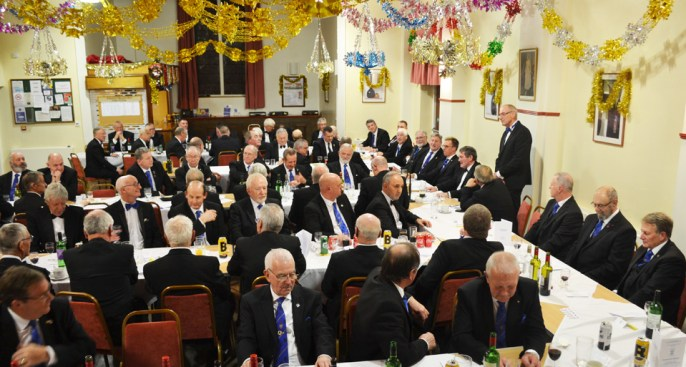 A very full festive 'Festive Board'.