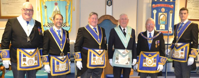 Pictured from right to left, are: Paul Fuery (DC), Paul Mason, Neil McGill, Maurice Townley, Keith Kemp and Ryan Modlin.