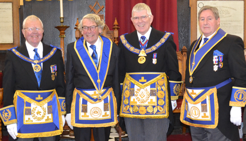 Pictured from left to right, are: Keith Kemp, Bryan Milner, Tony Harrison and Neil McGill.