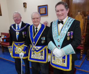 John Potts celebrates 50 years in Freemasonry