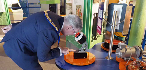 Tony exploring science at the Catalyst Discovery Centre in Widnes.