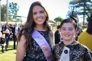 2017 Jacaranda Queen candidate Rachael Noakes at Westlawn Race Day