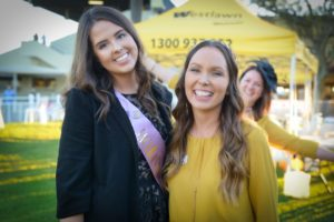 Jacaranda Queen candidate Rachael Noakes with Sarah Templeton