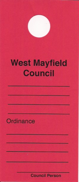 Ordinance Violation Notice Door Hanger