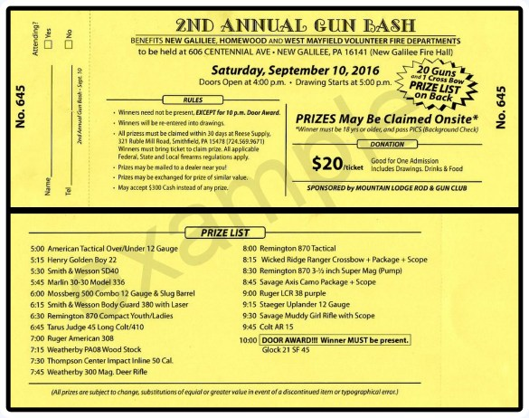 WMVFD GUN BASH EXAMPLE TICKET