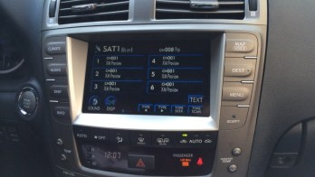 Satellite Radio Added to Lexus ISF Works and Looks Like Factory