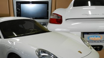 Repeat Porsche Cayman Client Gets Safety and Audio Upgrades