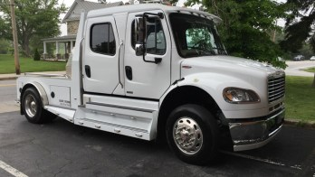 Repeat Westminster Client Gets Freightliner M2 Tow Vehicle Audio System