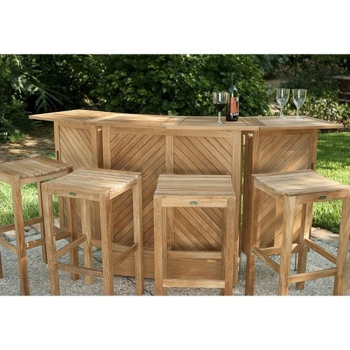 5 pc somerset teak bar stool set