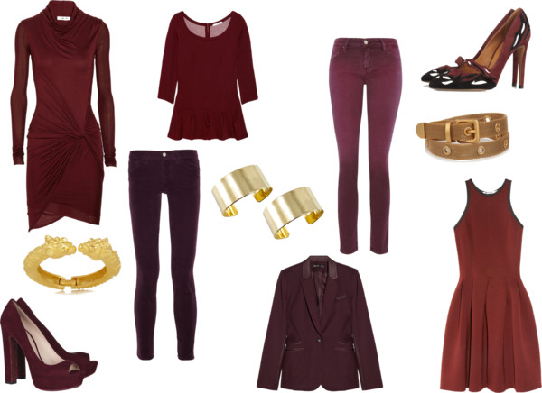 Trend Spotting: Burgundy and Gold