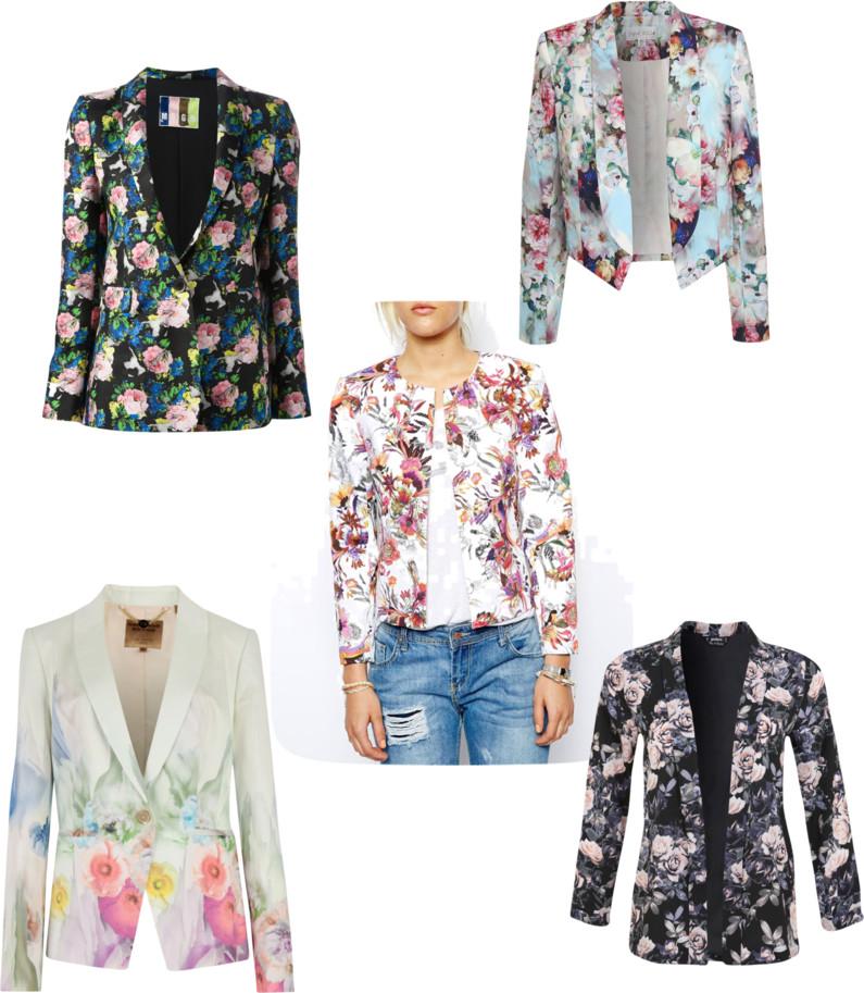 Trend Spotting: Floral Blazers