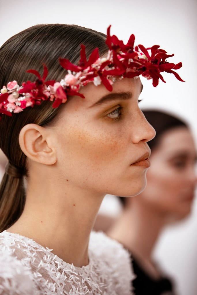 a close up look at the CHANEL Haute Couture SS21 Beauty Look