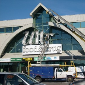 image of our led signs installation service