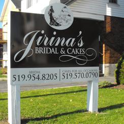 Jirina's Bridal Ground Sign