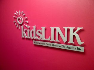 Kids Link interior sign