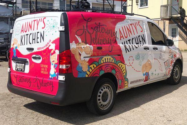 Aunty's Kitchen Vehicle Graphics