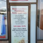 image of the Westmount Place Pharmacy door graphics
