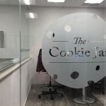 image of the Colonial Cookies window frosting