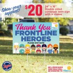 Thank You Frontline Heroes Lawnsign