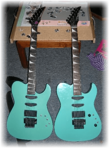 C:\Users\Barry\Desktop\Westone Guitars for Resto Section of Website\Corsair\'87 Clipper pix\'87 clipper front compare.png