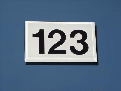 Plastic Numbers Doors