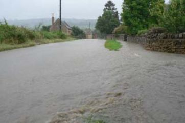 Weston Subedge floods - July 2007