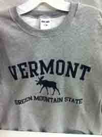 Vermont Green Mountain Moose Crewneck Sweatshirt