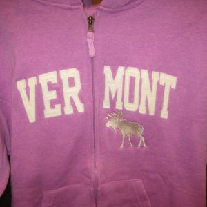 Vermont Moose Hooded Zip Up Sweatshirt