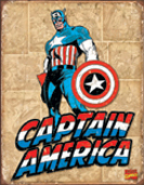 Captain America Retro Panels