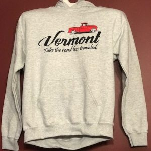 Vermont Road Less Traveled Hooded Sweatshirt