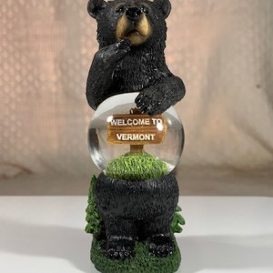 Standing Black Bear – Welcome to Vermont Snowglobe