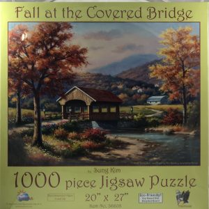Fall at the Covered Bridge 1000 pc.