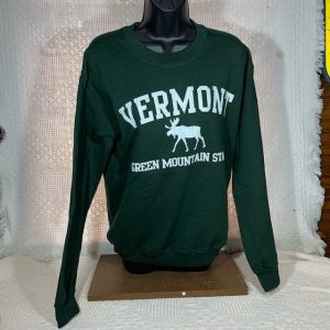 Vermont Green Mountain Moose Crew Neck Sweatshirt