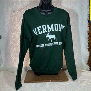 Vermont Green Mountain Moose Crew Neck Sweatshirt