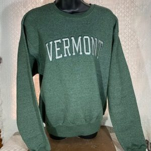 Vermont Embroidered Crew Neck Sweatshirt