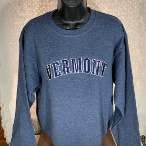 Vermont Embroidered Crew Neck Sweatshirt
