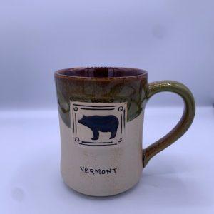 Half Glazed Bear Ceramic Mug