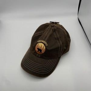 Vermont Bear in Woods Hat