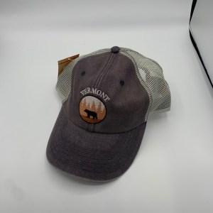 Vermont Bear in Woods Mesh Hat