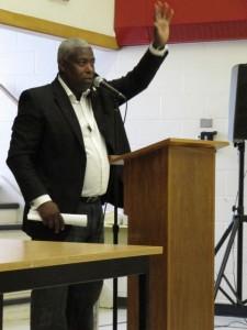 Rob Davis speaking at St John