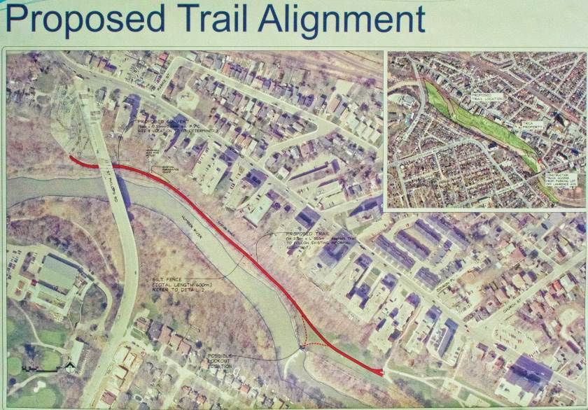 A plan of the trail extension.