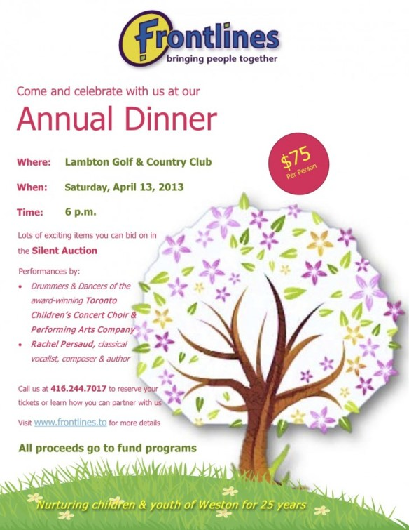 Annual Dinner Reminder Flyer