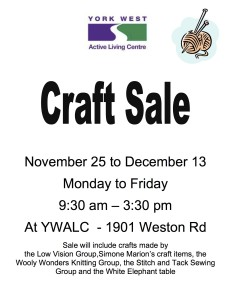 Craft sale poster