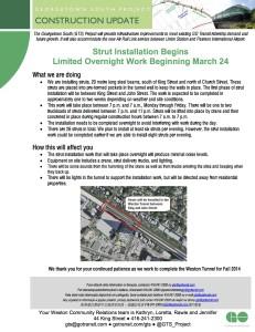 Follow-up Strut Installation Beginning March 24 FINAL copy
